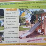 Einweihung - Kinderspielplatz in der Bahnhofstrasse